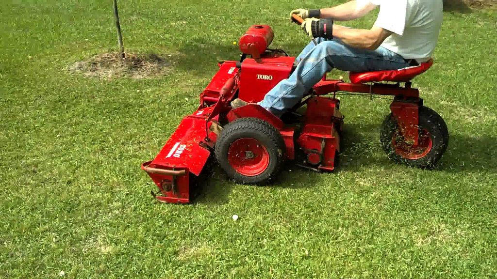 riding reel mower